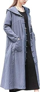 YESNO TK6 Women 'A' Skirt Shirt Tops Blouses Floral Printed 100% Linen Casual Loose Fit Raglan Sleeve Hi-Low Hem