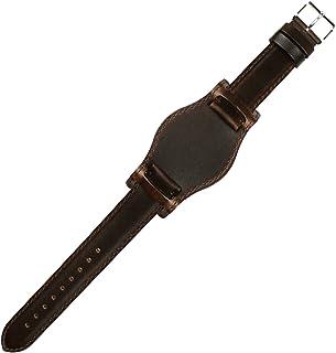 HDT DESIGN BUNDレザー 20mm ストーン・ブラウン [ブラウンスティッチ] 時計 ベルト バンド [腕時計][クロノワールド chronoworld][簡単キット付]