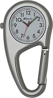 Ravel Belt Clip Quartz Watch - Silver Tone