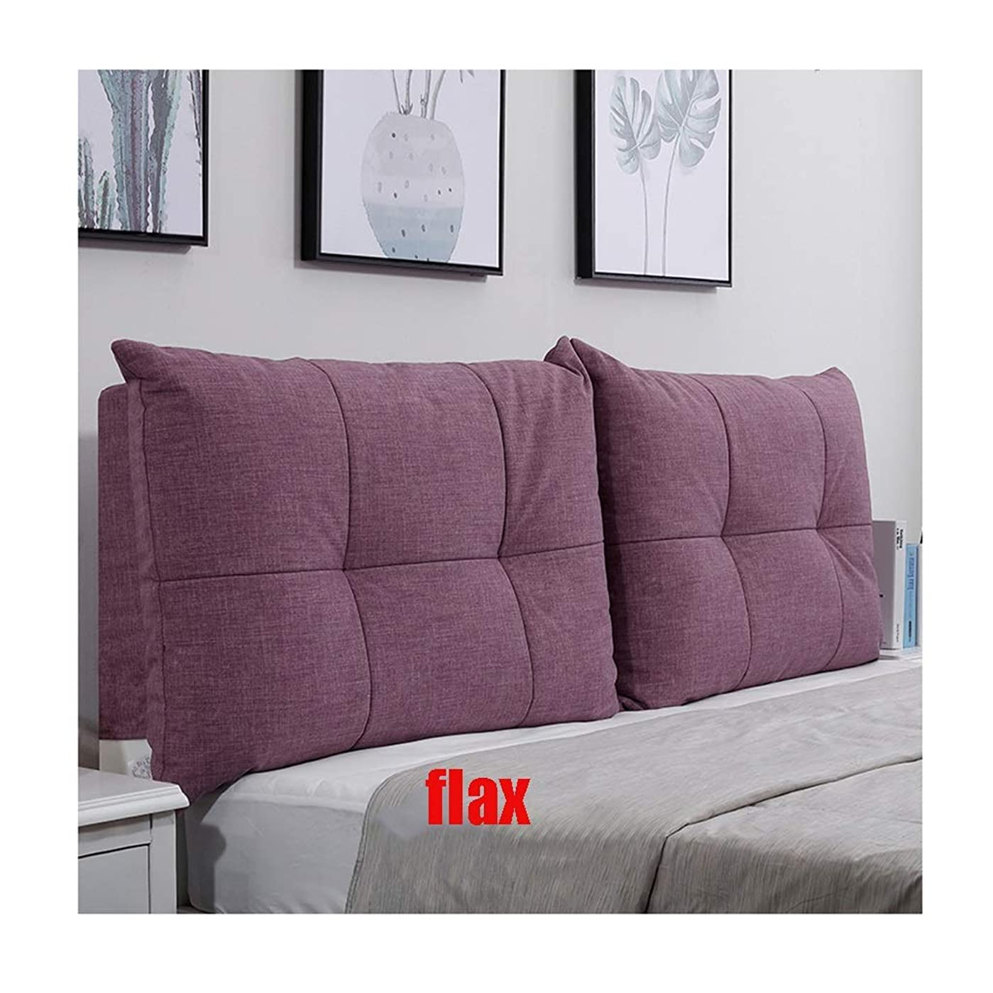 一般化するフラフープショルダーベッドの背もたれクッションヘッドボード付き/なし亜麻スポンジ裏地サポート枕簡単に変形しない取り外し可能および洗えるダブルベッド (Color : 9, Size : 150x60cm)
