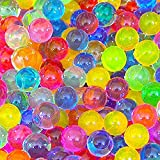 8 Ounces, About 20,000 Large Marble Size JellyBeadZ Water Bead Gel, for Stress Balls, Bright Rainbow Mix