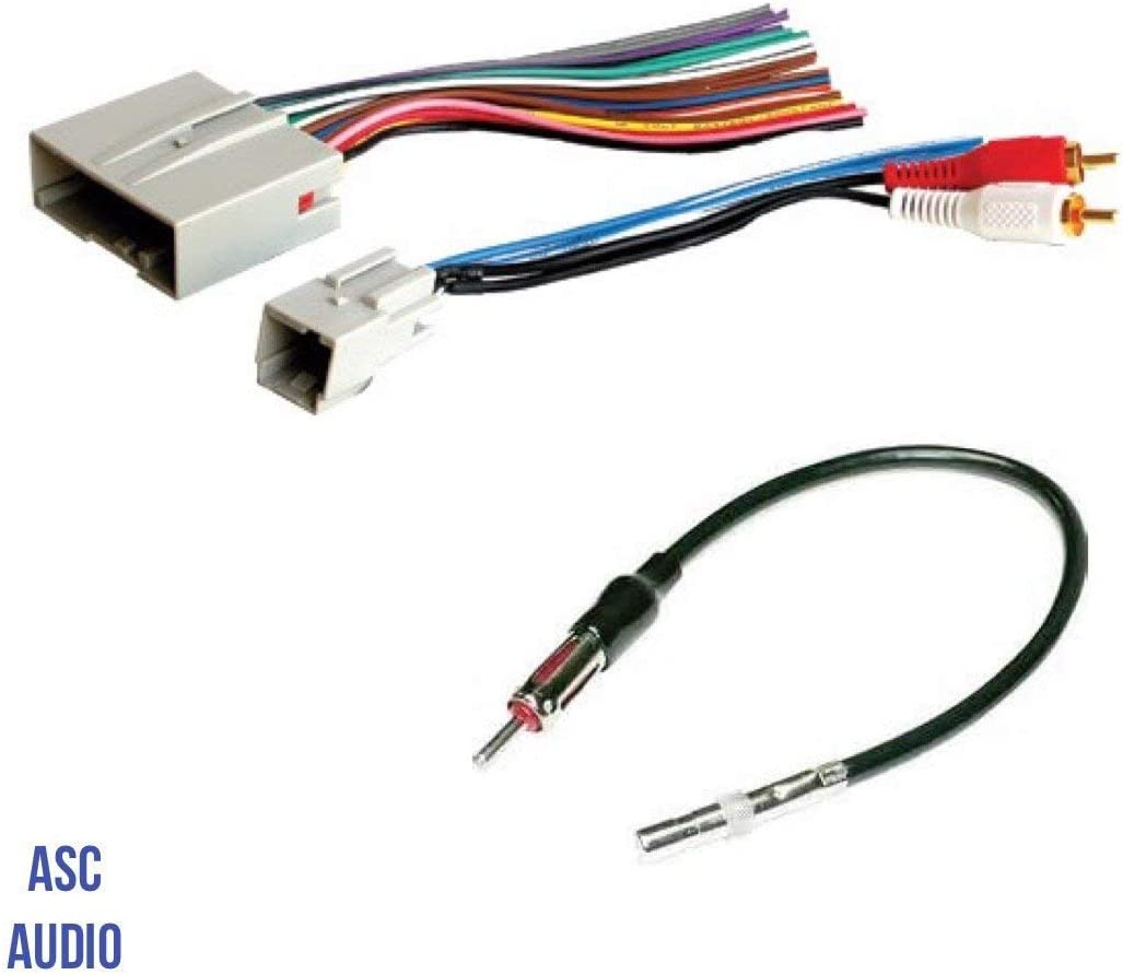 Amazon.com: ASC Audio Car Stereo Wire Harness and Antenna Adapter to  install an Aftermarket Radio for some Ford Lincoln Mazda Mercury Vehicles-  Retains Factory Subwoofer- Compatible Vehicles listed below: Car Electronics | Ford Factory Radio Wiring |  | Amazon.com