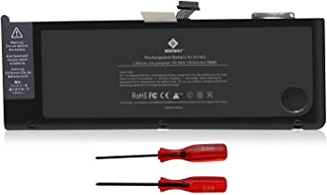 Egoway 7200mAh-79Wh Replacement Battery A1382, Made for Early and Late 2011, Mid 2012 MacBook Pro 15 inch Core i7