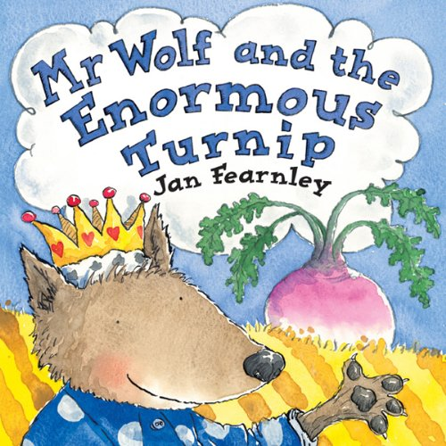 Mr Wolf and the Enormous Turnip audiobook cover art
