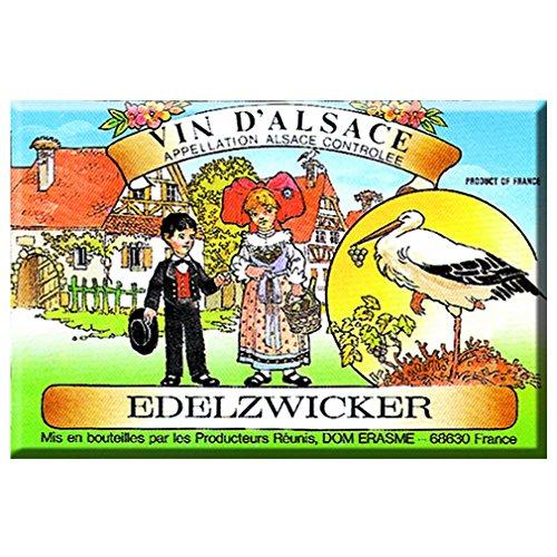 Souvenirs de France - Magnet Wein 'Edelzwicker'