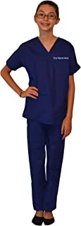 My Little Doc Personalized Kids Scrubs Dark Royal Blue