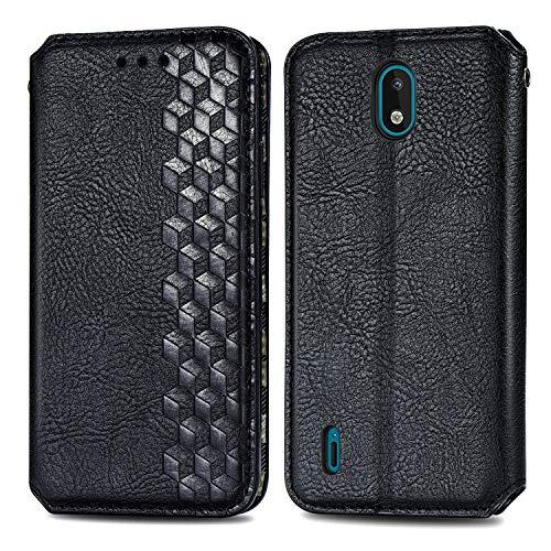 Generic Handyhülle für Nokia 1.3 Hülle Leder Schutzhülle Brieftasche mit Kartenfach Magnetisch Stoßfest Handyhülle Case für Nokia 1.3 - XISHD010402 Schwarz