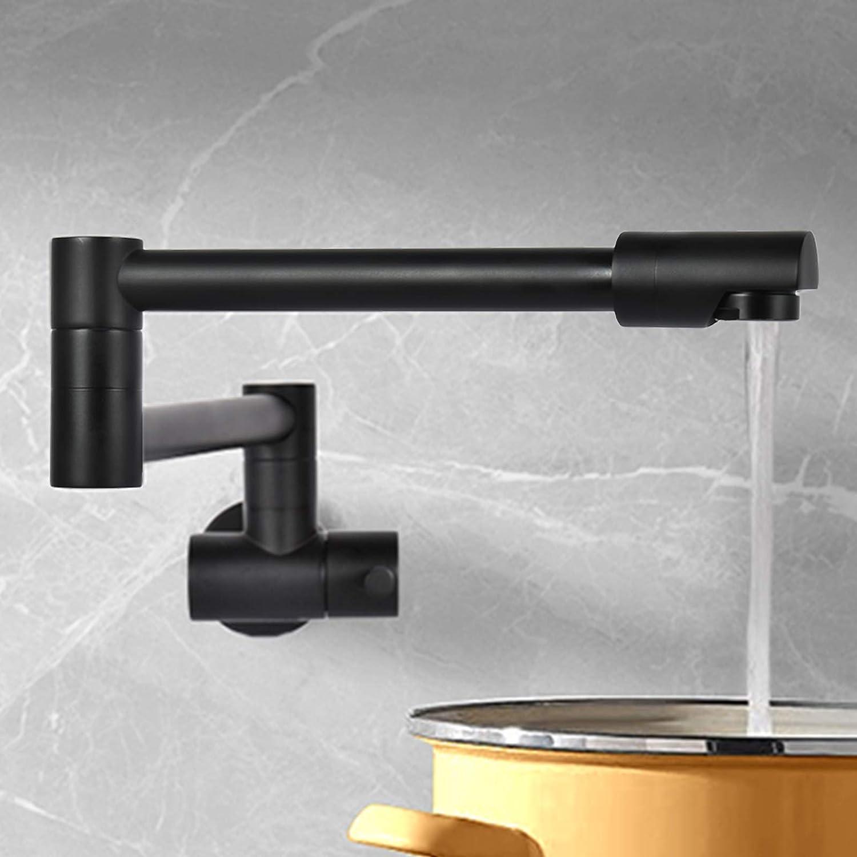 VALISY Lead-Free Max 70% OFF Solid Brass 1 Hole Black Single Handle Sacramento Mall Wa Matte