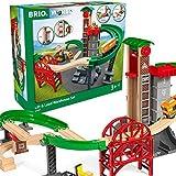 BRIO Bahn 33887 - Großes Lagerhaus-Set mit Aufzug