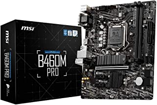 MSI B460M PRO ProSeries Motherboard (mATX, 10th Gen Intel Core, LGA 1200 Socket, DDR4, M.2, USB 3.2 Gen 1, 2.5G LAN, DSUB/...