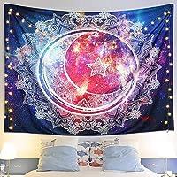 GXZZ壁に取り付けられた装飾タペストリー、月の星空の夜のタペストリーd羅ボヘミアンタペストリーリビングルームの寝室寮の装飾