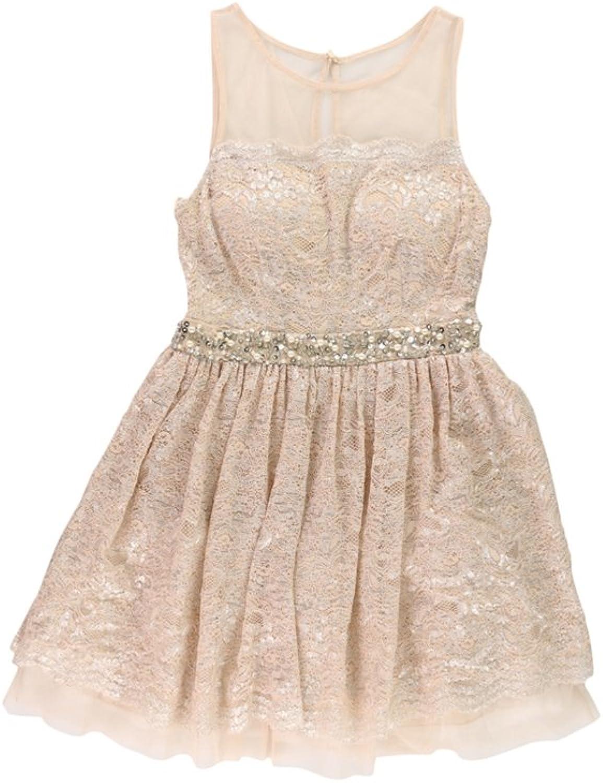 City Studio Womens Shimmery ALine Dress