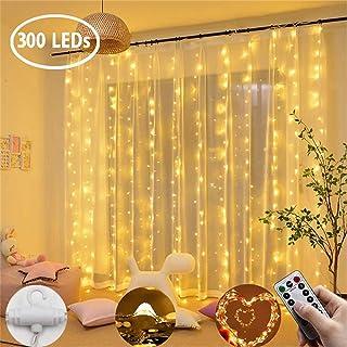 Luz de Cortina JINPX Luz Cadena Luces de Navidad con 300 LED