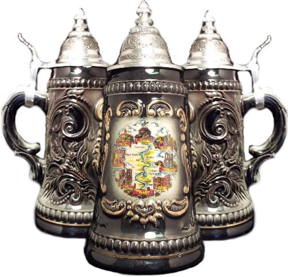 Ranking TOP10 Mosel Moselle River Black Branded goods Shield German Stein Beer One Mug .25L