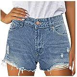 Kurze Hose Mädchen Sommer Jeanshosen Damen Womens Shorts Denim High Waist Hotpants Damen