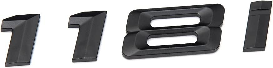 118i Matte Black Trunk Lid Car Rear Badge Emblem Decal Number Letter for BMW 1 Series E81 E82 E87 E88 F20 F21
