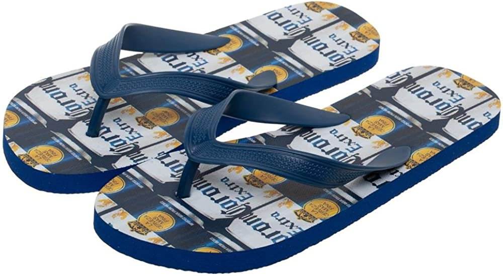 Corona Extra Repeating Can Labels Unisex Sandals Flip Flops