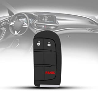 TURBOSII Car Key Fob Replacement Keyless Entry Remote Control fits 2017-2018 Jeep Compass,2018 Jeep Trackhawk,2015-2017 Fiat 500L,Dodge Dart Charger Challenger(M3N-40821302,68051387AB)