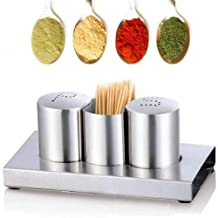 Glass spice spice containers, stainless steel salt and pepper shakers with rack, mini salt and pepper set, spice And Spice...