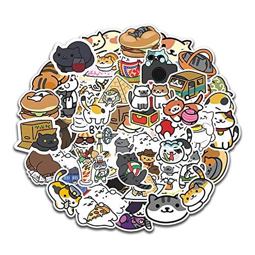 DSSJ 50 Simpatico Cartone Animato Gatto Emoji Conto a Mano Adesivi Decorativi Notebook Leva per Bagagli per Telefono Cellulare Adesivo Impermeabile