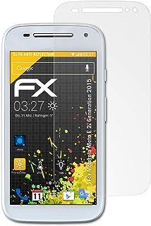 atFoliX Skärmskydd är kompatibel med Motorola Moto E 2. Generation 2015 Skyddsfilm, antireflekterande och stötdämpande FX ...