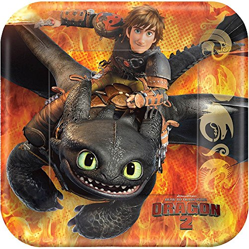 How to Train Your Dragon 2 Square Plate, 7', Party Favor