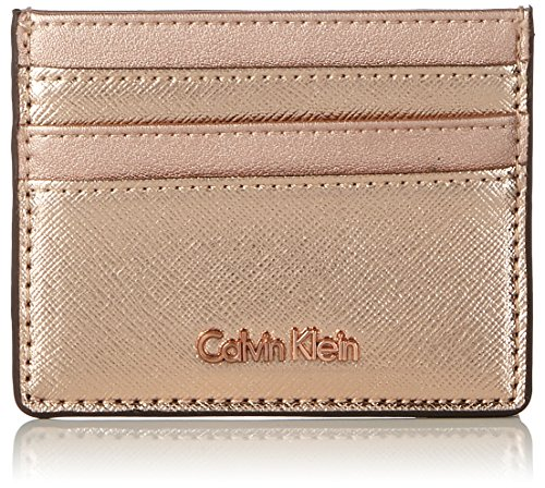 Calvin Klein - Marissa Cardholder, Tarjeteros Mujer, Gris (Chrome Rose), 0.5x8x10 cm (B x H x T)