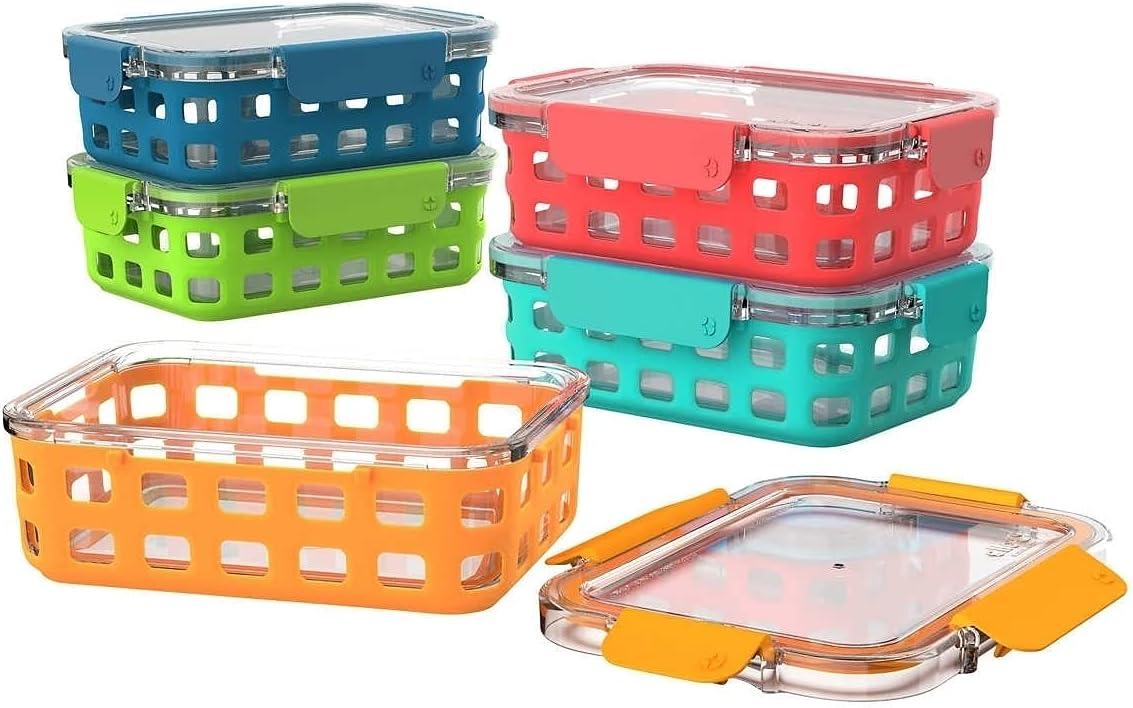 Ello Duraglass Leak proof Meal Prep Set 5 Containers