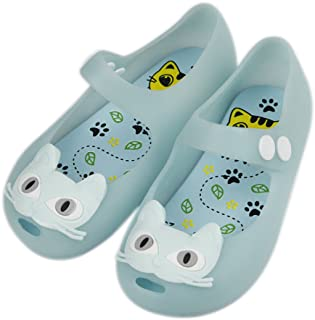 Girls Cat Princess Jelly Shoes Mary Jane Flats for Toddler Little Kids