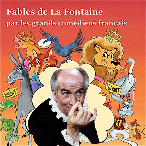Couverture de Les Fables de La Fontaine par les grands comédiens français