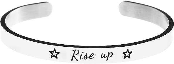 Jvvsci Rise up Cuff Bracelet, Hamilton Musical Inspired Star Gift, Inspiration Motivation Jewelry,Theater Gift