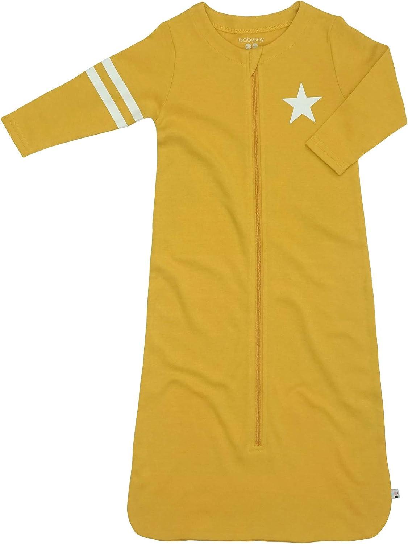 Babysoy Long Sleeve Star Sleep Easy-to-use Sack Wearable Ranking TOP3 Blanket 1 Mustard