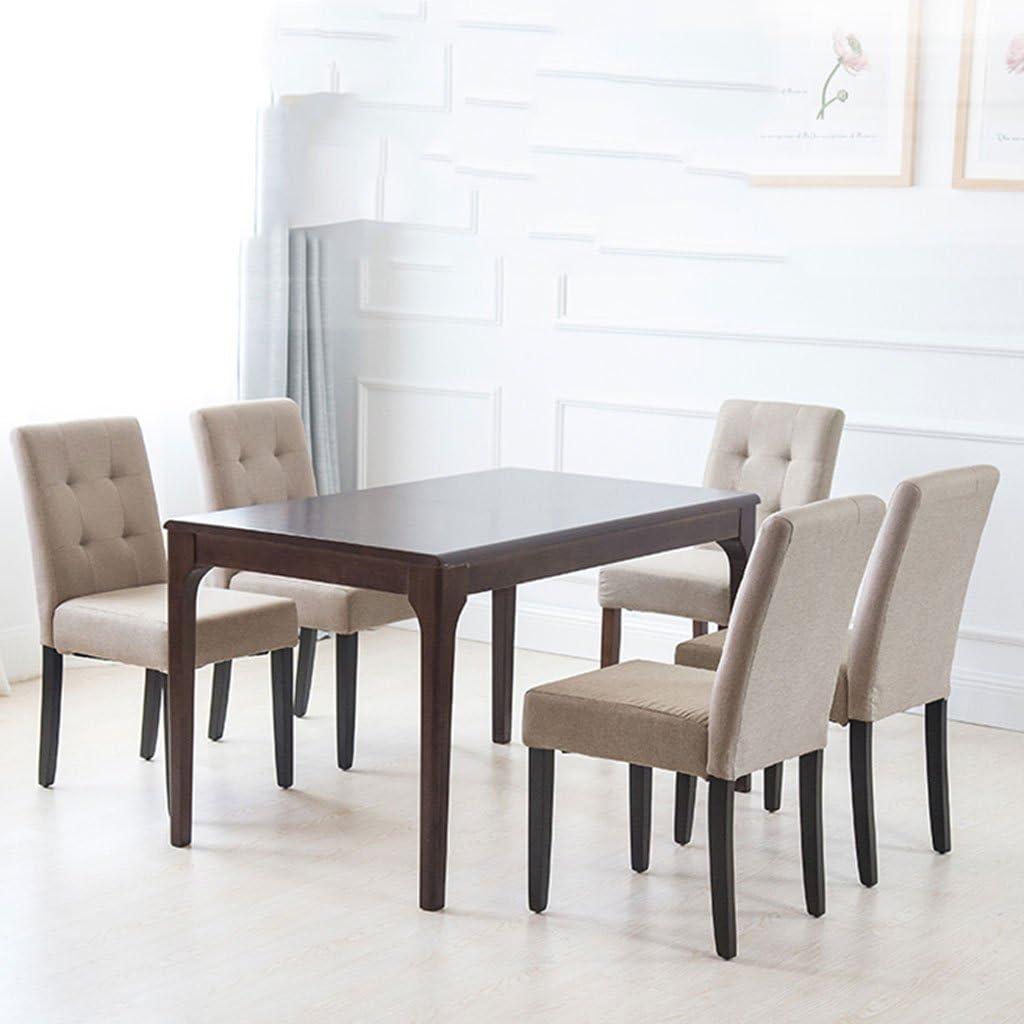 XXT Solide Bois À Manger Chaise Café Table Chaises Hôtel Restaurant Dossier Bureau Tabouret Simple Moderne Nail Chaise Ménage Adulte Durable (Color : D) A