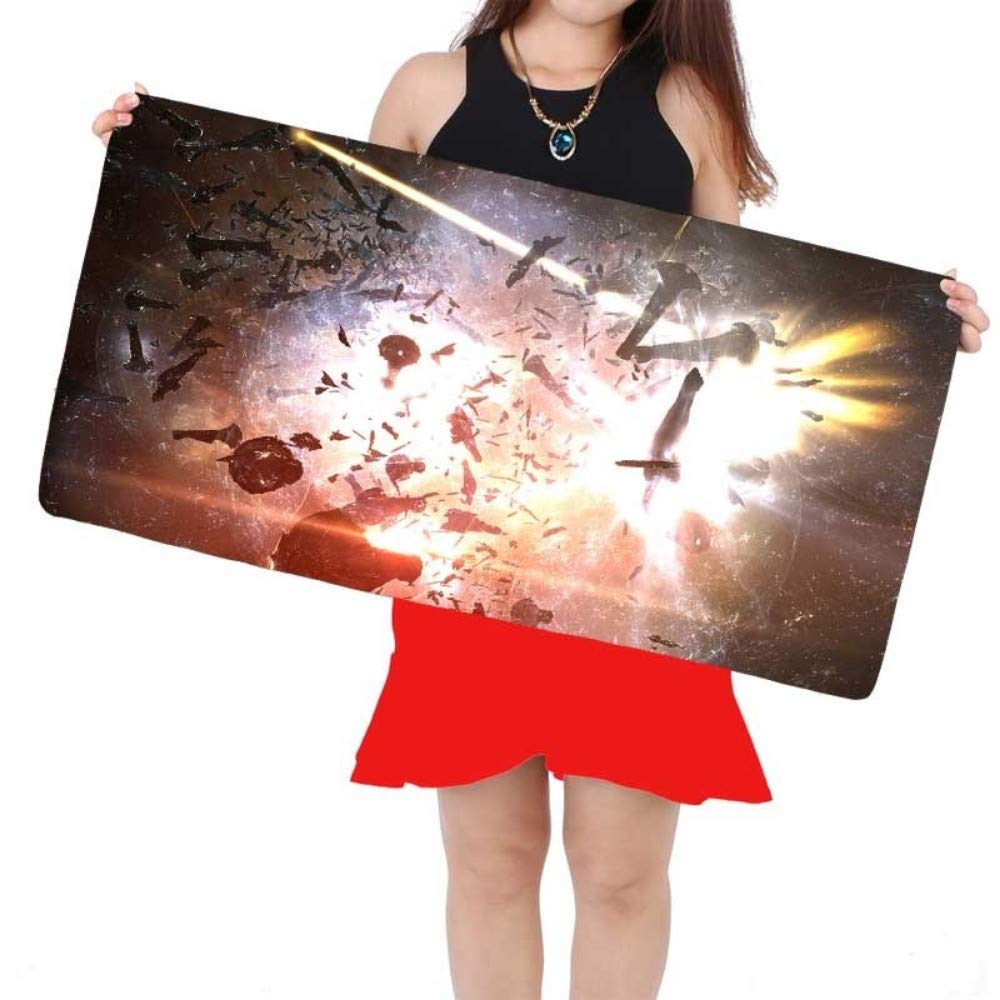 DMWSD Mouse Pad Desktop Pad EVE Online Anime Game Character Fleet Command Ship Mothership Oversized Non-Slip Professional Gaming Mouse Notebook Desktop Notebook Peripherals