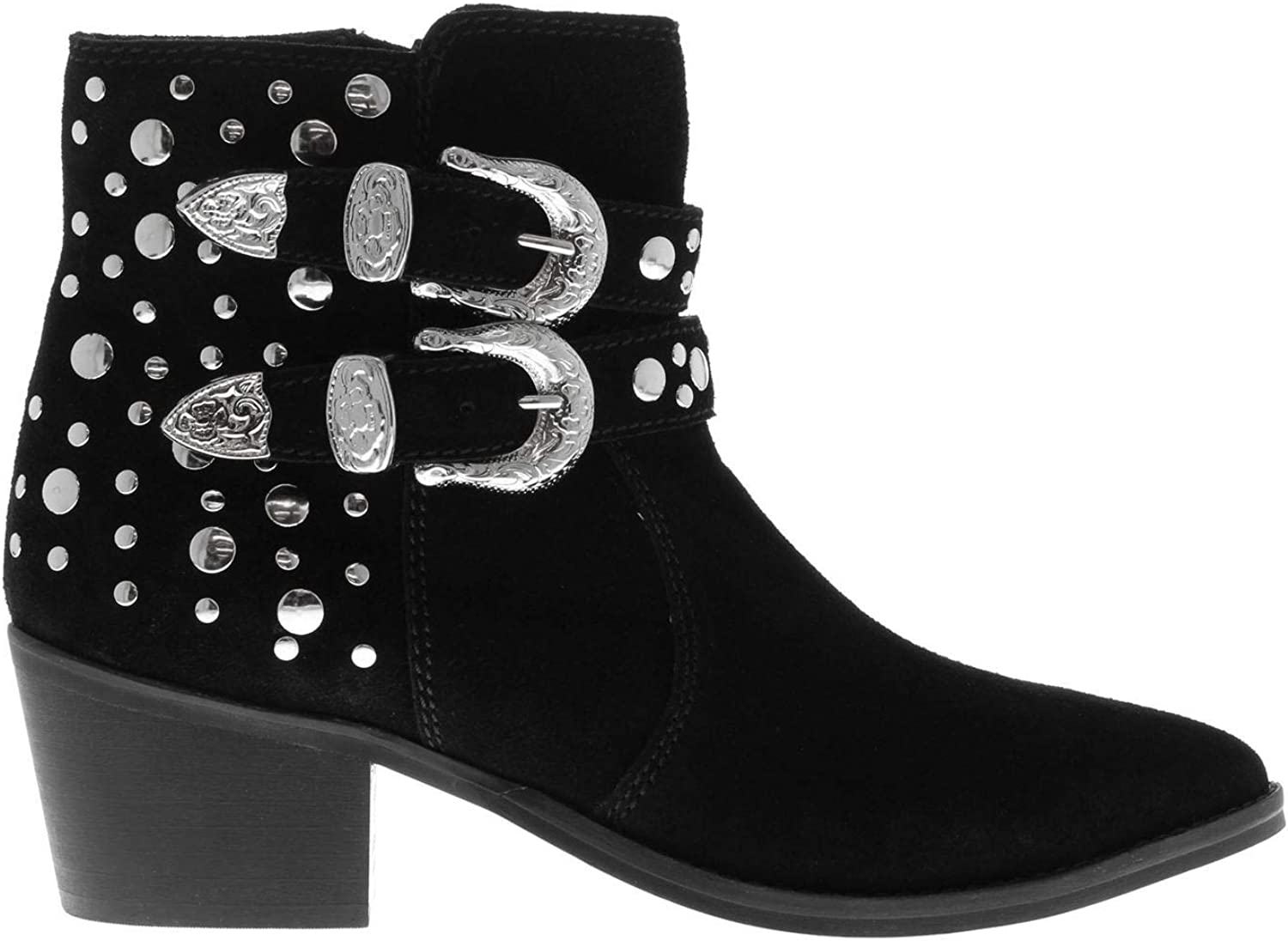 Attribute Irma Studded Suede Ankle Boots Footwear shoes