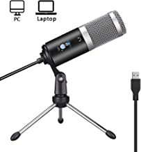 Ksera PC Microphone,Plug & Play with Tripod Stand Home Studio Recording USB Condenser Microphone for PC/Desktop/Laptop Online Chat,Recording,Streaming Twitch,Voice Overs,Podcasting for YouTube