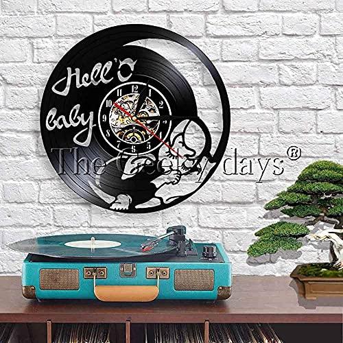ZZLLL Reloj de Pared para Dormir para bebé, Reloj de Vinilo de diseño Exclusivo, Reloj para recién Nacidos, Mujeres Embarazadas, mamá, Familia Joven, Arte de Pared para bebés