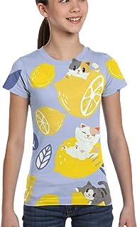 Girl T-Shirt Tee Youth Fashion Tops Moths Butterflies Seamless