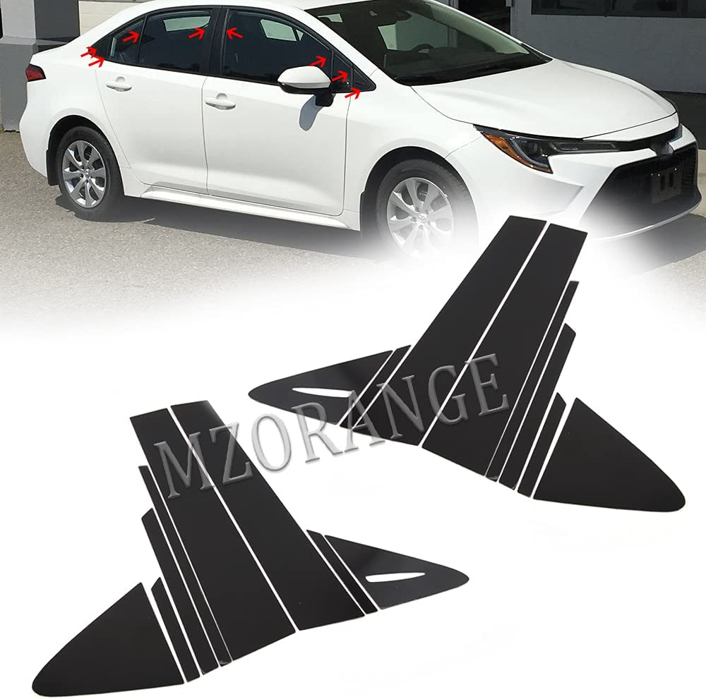MZORANGE Easy-to-use Pillar Cheap super special price Posts Door Window Trim Toyota for Fit Cover Coro