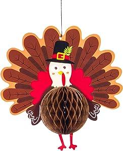 Hanging Turkey Door Sign for Thanksgiving Decorations - Pack of 1 | Hanging Plaque Sign Door Hanger | Autumn Harvest Thanksgiving Wall Art | Happy Thanksgiving Wall Decoration for Home Outdoors