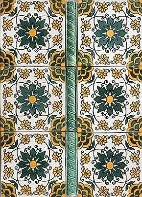 1x6 Dark Forest Green Accent Tile Rope Trim Liner Deco Home Renovation Restoration (10 Piece