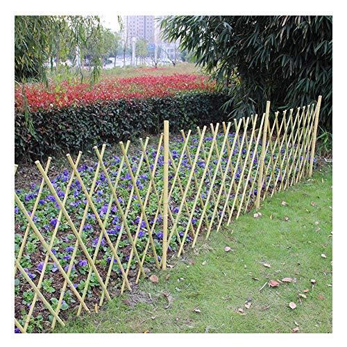 ZHANWEI Gartenzaun Staketenzaun Gemüsefeld Park Leitplanke Netzwerk Bambus Holz Rasenkante Beeteinfassungen, 3 Größen (Color : 1pc, Size : 180x60cm)