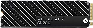 WD_Black SN750 500GB NVMe Internal Gaming SSD with Heatsink - Gen3 PCIe, M.2 2280, 3D NAND, Up to 3430 MB/s - WDS500G3XHC