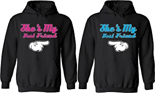 She is My Best Friend - Matching Couple Hoodies - Best Friend Forever Sweaters
