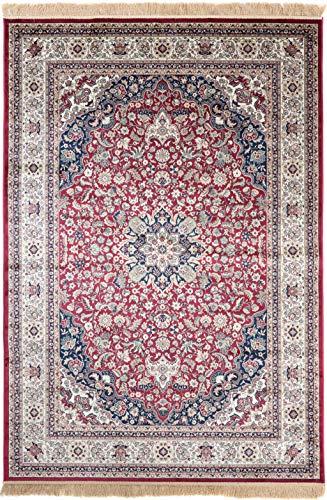 Carpeto Rugs Teppich Orientalisch Kurzflor 100% Viskose Rot 120 x 170 cm M