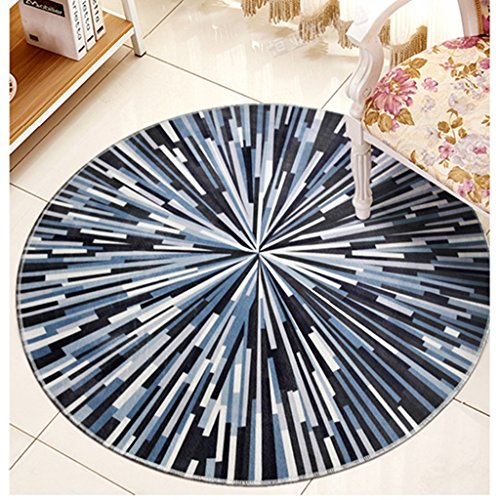 #Woonkamer tapijt rond tapijt, woonkamer salontafel computer draaibare stoel tapijt matten (kleur: B, grootte: diameter 80cm)