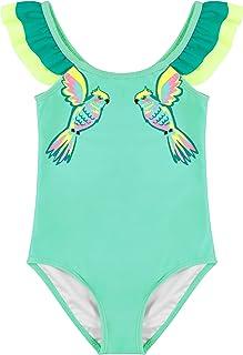 Maketina Toddler Baby Girls Swimsuit Ruffled Sleeveless Swimwear One Piece Bathing Suits