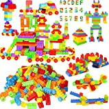 DEAR CUSTOMER PLEASE CHECK BLOCK DIMENSION BEFOR THE PURCHASE, ALL DIMENSION IS MENATIONED IN IMAGES Techhark - Kindly Note that this product includes 200 pcs blocks [Near About 185-205 pcs in Bag] Function: Helps develop intelligence, the sense of g...