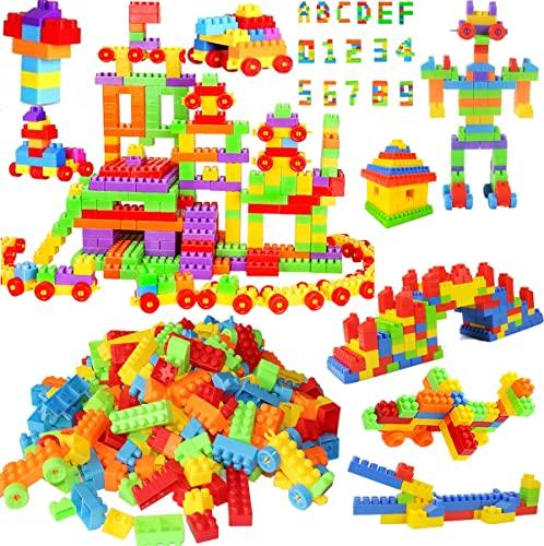 Techhark® 190+ MOST ECONOMICAL MEDIUM SIZE BLOCKS Smart Activity Fun and Learning Train Blocks For Kids, Multi Color Building Bricks and Blocks for Kids, Building Blocks for Kids Best Gift Toy(200+ Pcs Learning Block)