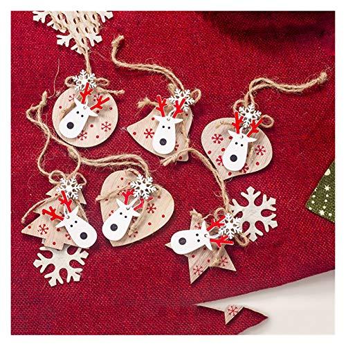SMchwbc Linda de Madera Que cuelga de árbol de Navidad Craft Decoración...